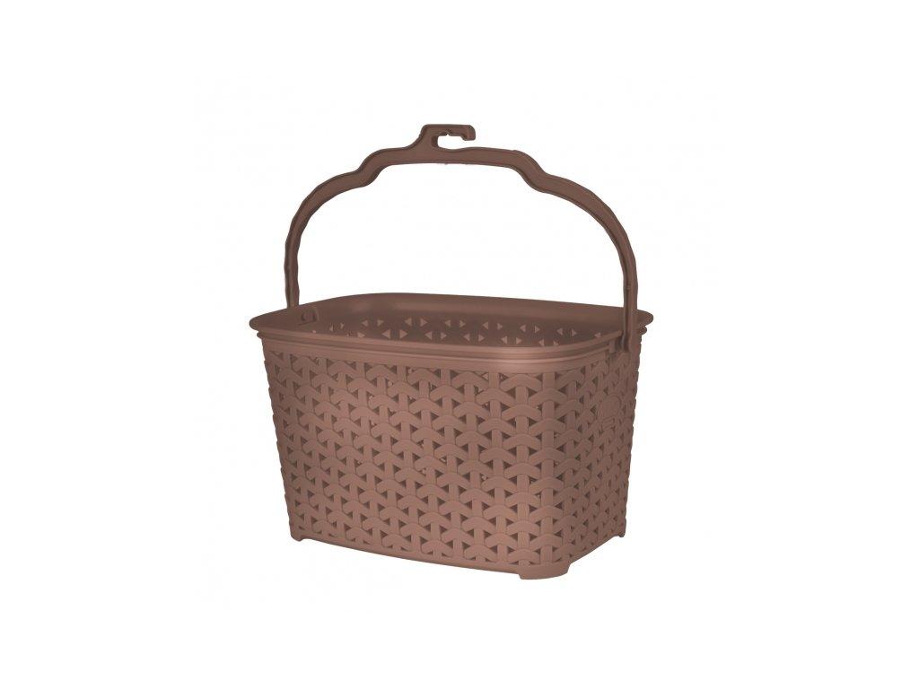 Plastový košík na kolíčky Ratan, 22 x 15,5 cm