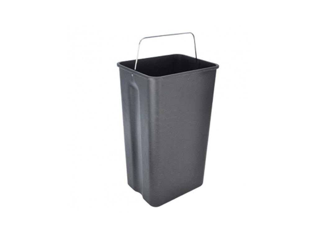 Odpadkový koš na třídění odpadu nerez,DUO, 2 x 20 l
