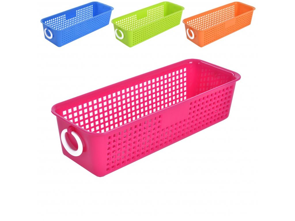 Plastový úložný košík, 25,5 x 9,5 cm