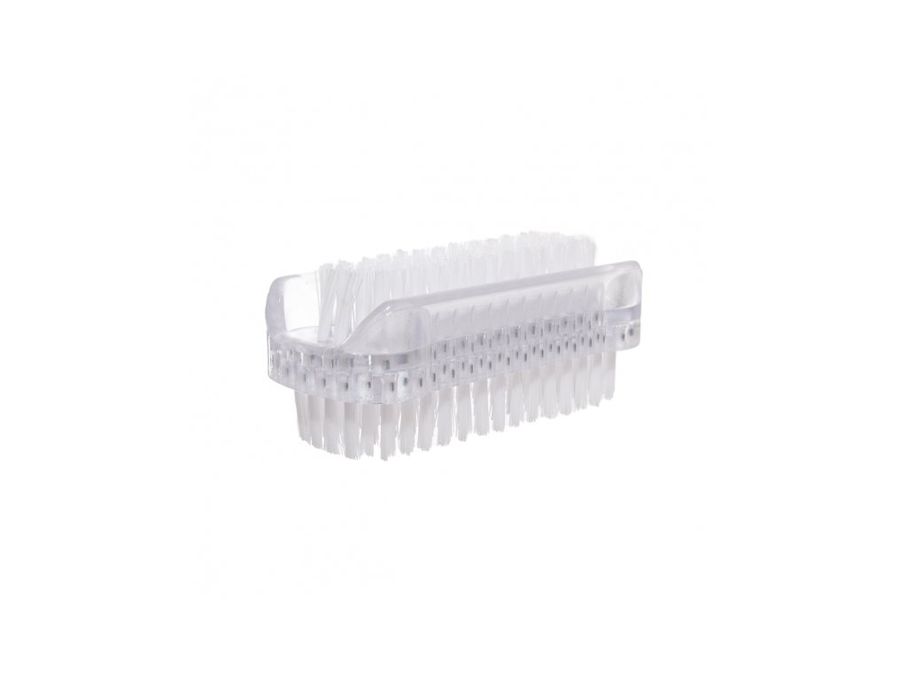 Plastový oboustranný kartáč malý, délka 8 cm