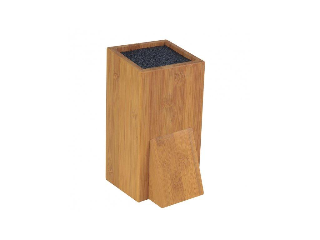 Dřevěný stojan na nože se štětinami, 11 x 10,5 cm