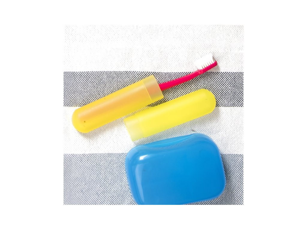 Plastové pouzdro na zubní kartáček, délka 20 cm