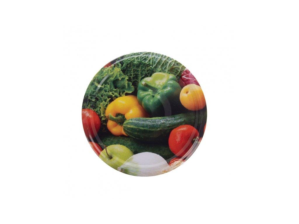Sada kovových zavařovacích víček Zelenina Bio 82, 10 ks
