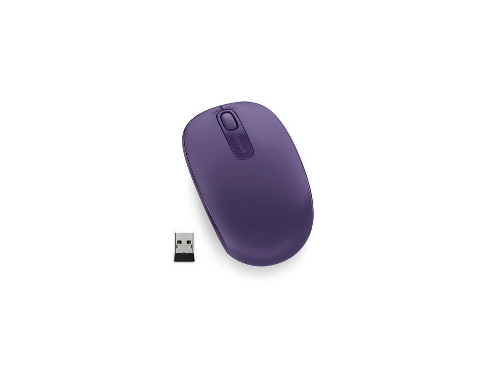 Myš Microsoft Wireless Mobile Mouse 1850 Purple / optická / 2 tlačítka / 1000dpi - fialová