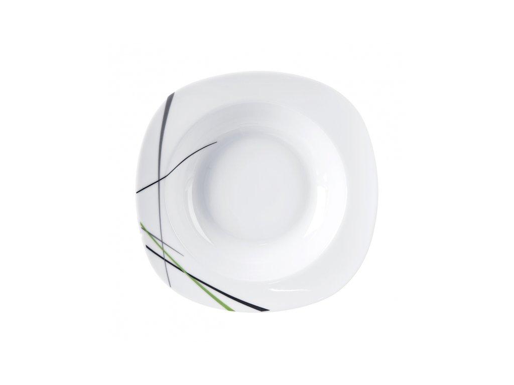 Hluboký talíř GREEN 21x21 cm