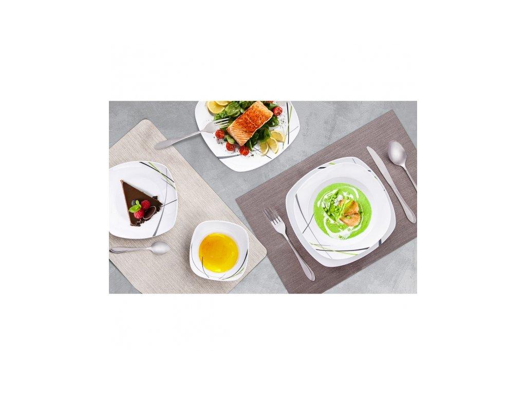 Porcelánový dezertní talíř Green, 18,5 x 18,5 cm
