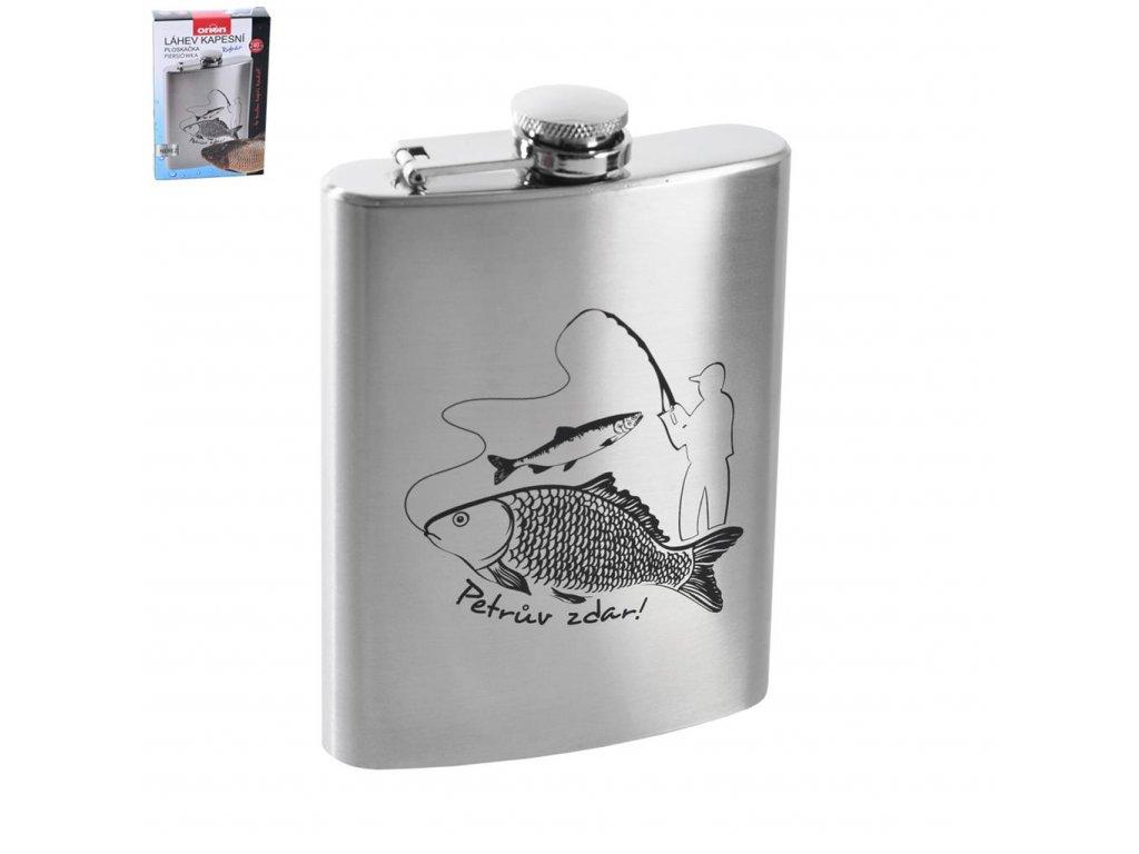 Nerezová kapesní láhev Rybář, 0,24 l