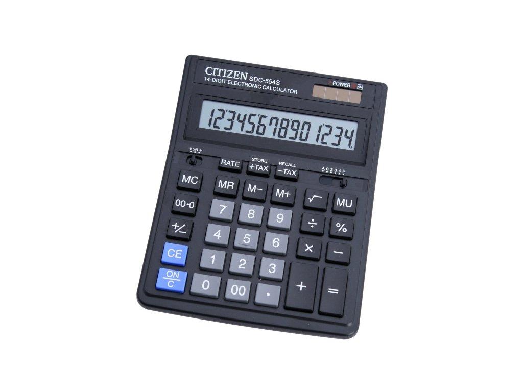 Kalkulačka Citizen SDC-554S - stříbrná