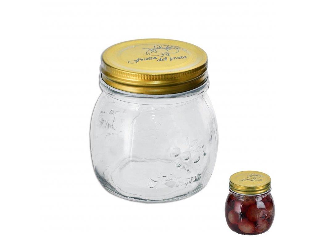 Zavařovací sklenice s kovovým víčkem, 0,29 l