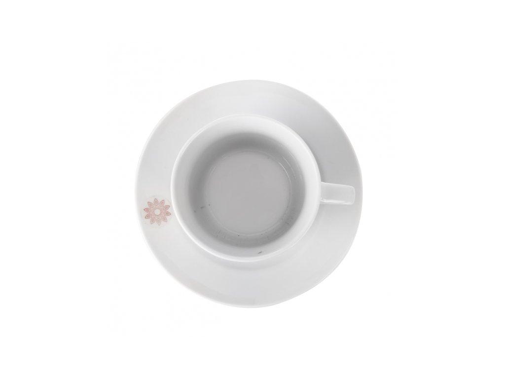 Porcelánový hrnek s podšálkem, 0,18 l
