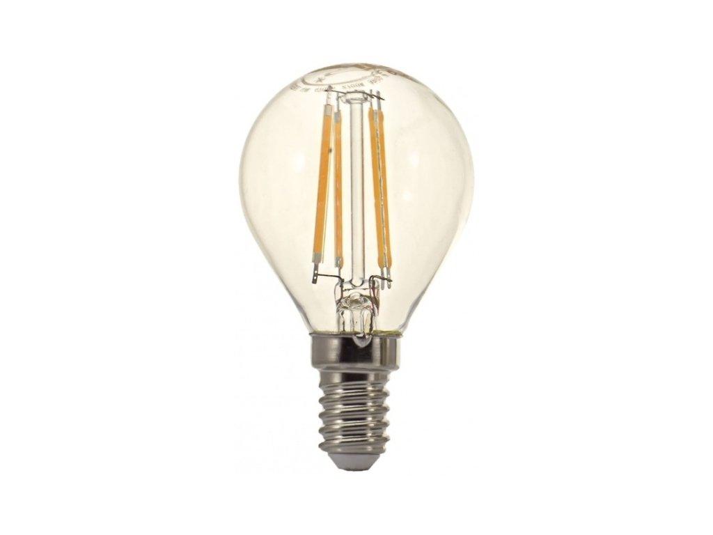 Žárovka LED Tesla Crystal Retro miniglobe, 4W, E14, teplá bílá