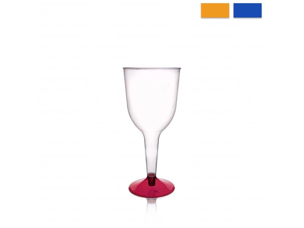 Plastový pohár na víno, sada 6 ks