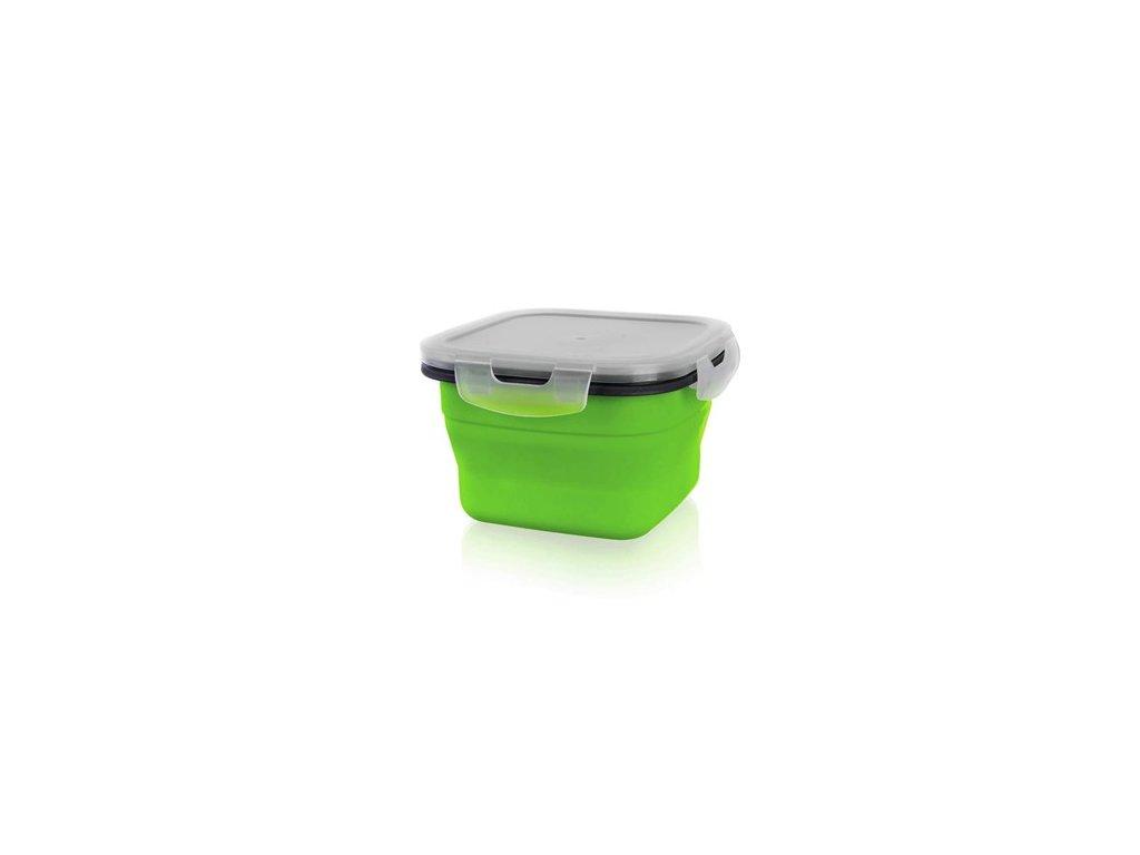 BANQUET Miska skládací silikonová CULINARIA Green 800 ml, s víčkem
