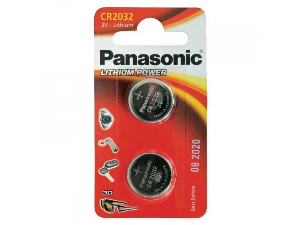 Baterie lithiová Panasonic Lithium Power CR2032, blistr 2ks