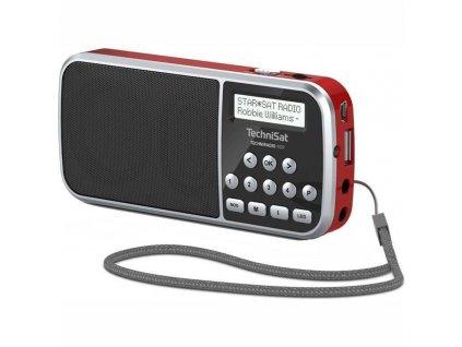 Radiopřijímač DAB TechniSat TECHNIRADIO RDR, červený