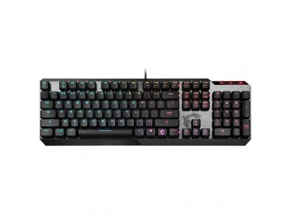 Klávesnice MSI Vigor GK50, CZ+SK layout - černá/stříbrná