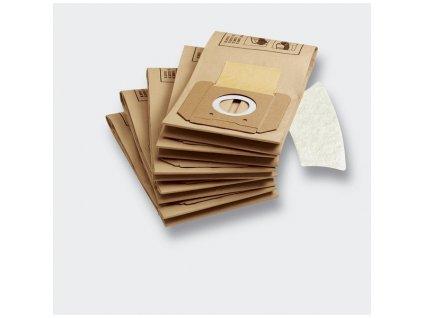Sáčky do vysavače Kärcher (5 ks + 1 mikrofiltr), filtrační papírové