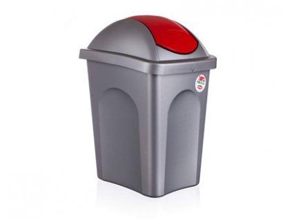 Koš odpadkový MP 30 l, červené víko