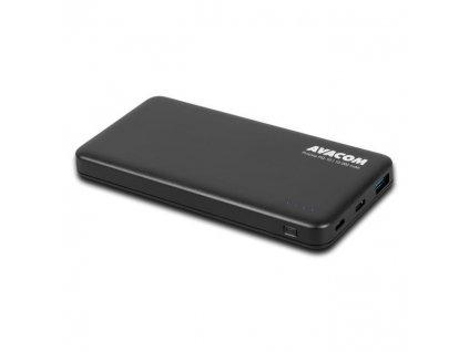 Powerbank Avacom 10000mAh, QC, USB-C PD - černá