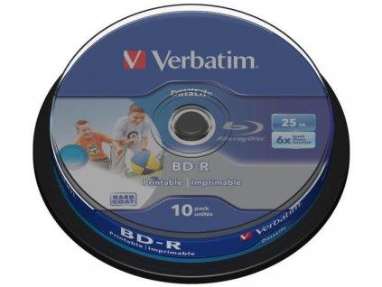 Disk Verbatim BD-R SL 25GB, 6x, Printable 10-cake