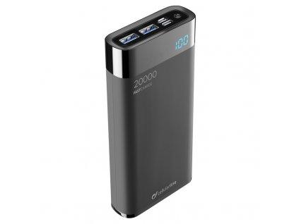Powerbank CellularLine FreePower Manta HD 20000mAh, USB-C PD, QC 3.0 - černá