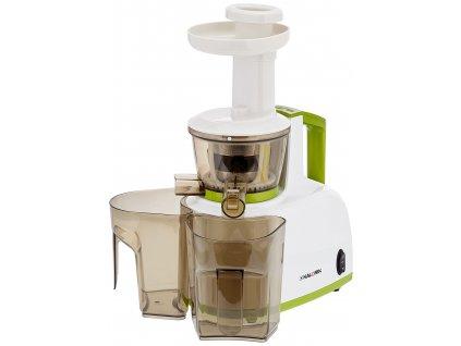 Šnekový odšťavňovač/lis na ovoce a zeleninu KALORIK FE 1000, 200W, bílá/zelená