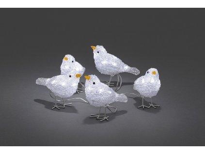 Ptáčci 6144-203, 5 kusů, 40 bílých LED, výška 11,5 cm                                    KONST