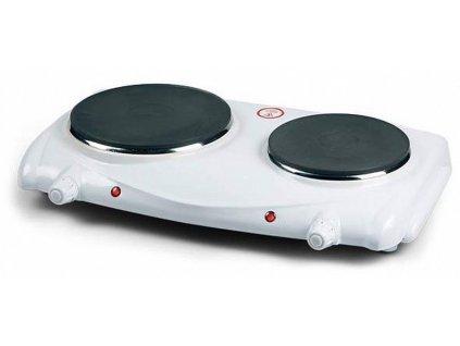 Dvouplotýnkový elektrický vařič DOMO DO 310 KP, bílý