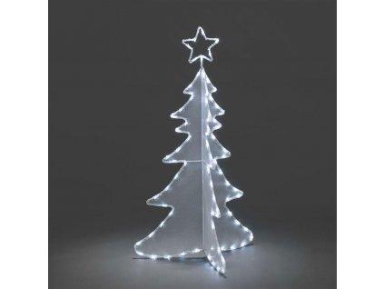 3D vánoční strom, 80 bílých LED, výška 120 cm, šířka 64 cm                         KONST