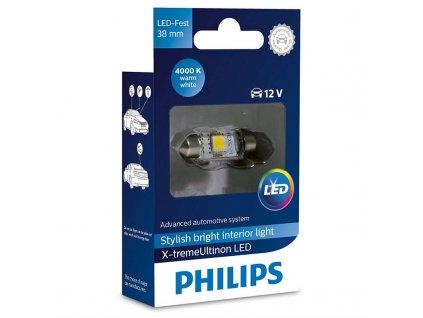 Autožárovka Philips X-tremeUltinon LED C5W, 38mm, 4000K, 1ks