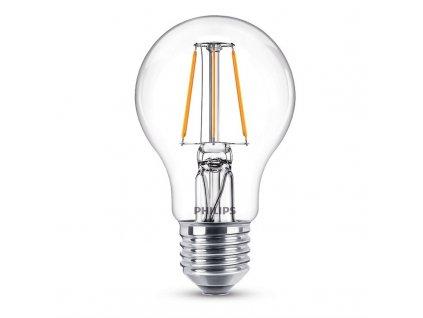 Žárovka LED Philips Filament, klasik, 4,3W, E27, teplá bílá