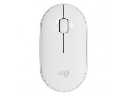 Myš Logitech Pebble M350 / optická / 3 tlačítka / 1000dpi - bílá