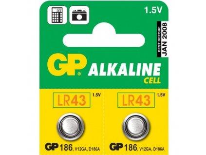 Baterie GP 186 ALKAL, LR43, 1.5V, 70mAh, B1386