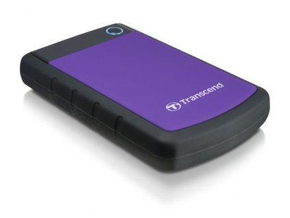 """Externí HDD 2,5"""" Transcend StoreJet 25H3P 2TB, USB 3.0 (3.1 Gen 1) - černý/fialový"""