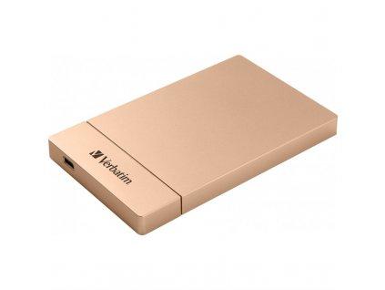 """Box na HDD Verbatim pro 2,5"""" HDD SATA, USB-C / USB 3.1. Gen2 - růžový"""