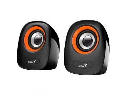 Reproduktory Genius SP-Q160 - černé/oranžové