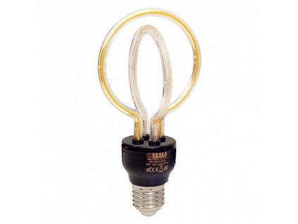 Žárovka LED Tesla design filament, 5W, E27, teplá bílá
