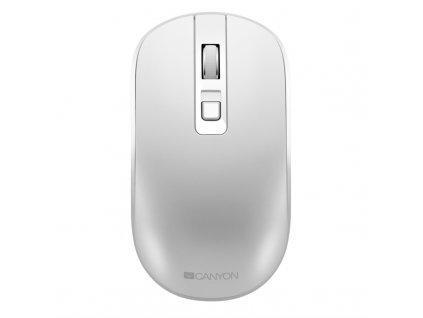 Myš Canyon CNS-CMSW18PW, tichá, bezdrátové nabíjení / optická / 4 tlačítka / 1600dpi - bílá