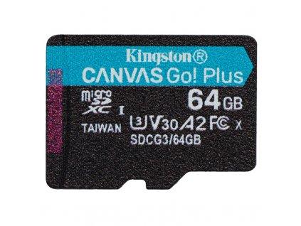 Paměťová karta Kingston Canvas Go! Plus MicroSDXC 64GB UHS-I U3 (170R/70W)