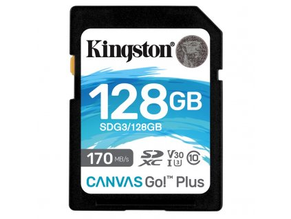 Paměťová karta Kingston Canvas Go! Plus SDXC 128GB UHS-I U3 (170R/90W)