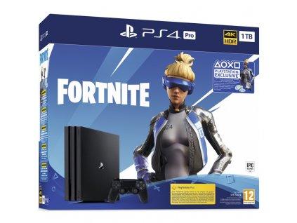 Herní konzole Sony PlayStation 4 Pro 1 TB + Fortnite balíček 2000 V Bucks - černá