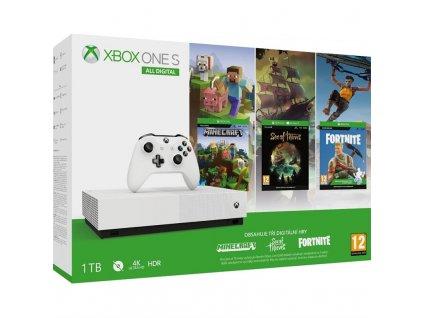 Herní konzole Microsoft Xbox One S 1 TB All-Digital Edititon (Refresh)