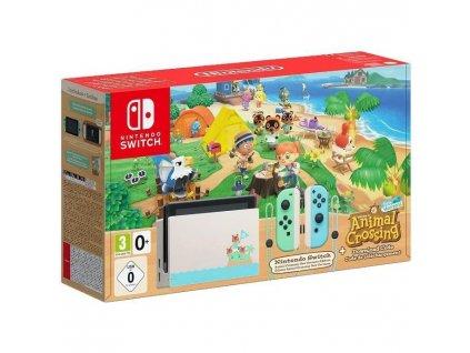 Herní konzole Nintendo Switch s Joy-Con v2 - Animal Crossing bundle