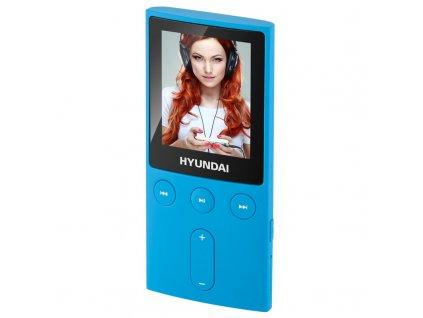 "MP3/MP4 přehrávač Hyundai MPC 501 FM, 4GB, 1,8"" displej, FM tuner, SD slot, modrá barva"