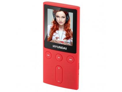 """MP3/MP4 přehrávač Hyundai MPC 501 FM, 4GB, 1,8"""" displej, FM tuner, SD slot, červená barva"""