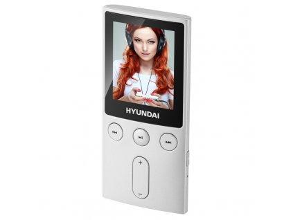 "MP3/MP4 přehrávač Hyundai MPC 501 FM, 8GB, 1,8"" displej, FM tuner, SD slot, stříbrná barva"