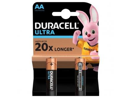 Baterie alkalická Duracell Ultra AA, LR06, blistr 2ks