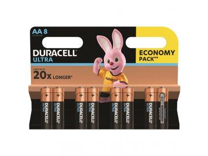 Baterie alkalická Duracell Ultra AA, LR06, blistr 8ks
