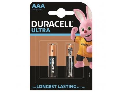 Baterie alkalická Duracell Ultra AAA, LR03, blistr 2ks
