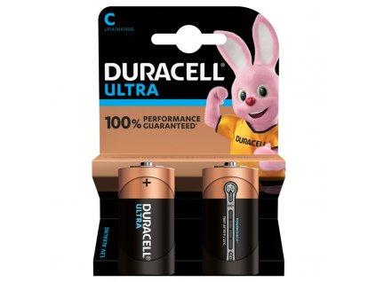 Baterie alkalická Duracell Ultra C, LR14, blistr 2ks